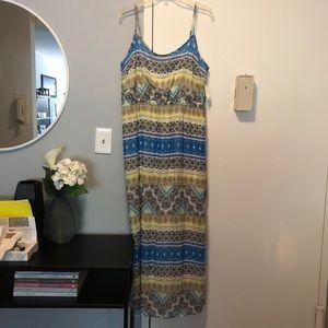 Maxi Geometric Pattern Dress